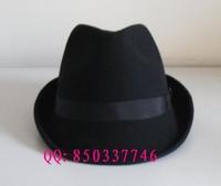 1 pcs free shipping 100% wool Wool fedoras male fedoras casual cap hiking woolen small hat  Unisex Fedora hat
