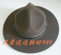1 pcs free shipping Wool fedoras cap marines woolen large brim hat  wool top hat