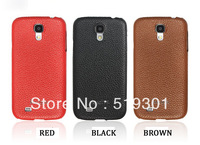 Affordable Cowhide Genuine Leather Case for Samsung Galaxy S4 i9500 case Lychee Pattern Real Leather free shipping(kk0052)