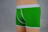 2013wholesale green and white shorts  boxer/sexy underwear/mens underwear/the underwear hot free ship