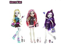 Best sale! 3pc/lot riginal Monster High dolls,BBC09 Rochelle Goyle,Ghouls Night Out ,New Styles plastic toys Free shipping