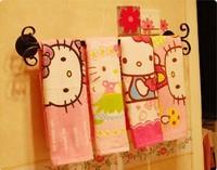 Free Shipping 64*33cm kawaii Hello Kitty 100% Cotton Cartoon Children's Face Towel