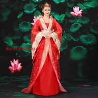 Princess fairy costume clothes tang suit hanfu ferformance dress with tasil waist belt pink white green yellow red
