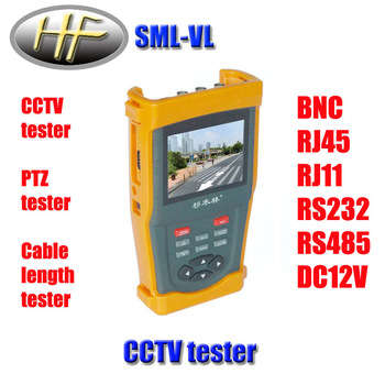 "SML-VL 3.5"" TFT LCD Video Monitor CCTV Tester Security Camera Resolution 960 * 240+12V Output AT-1000 Support OEM CCTV tester"