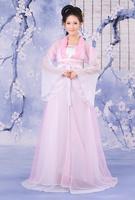 Hanfu female costume pink doll costume sd ancient costume fairy clothes multicolor