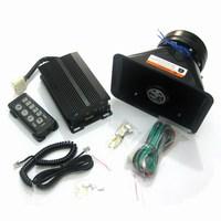 9 car alarm horn 200w vehienlar siren speaker flash lamp adjustable