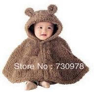 Winter baby clothes cape mantissas baby boy cloak outerwear thick d36