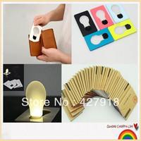 [ 50 pcs / lot ] Portable Pocket Mini LED Card Light Lamp Torch Wallet Size