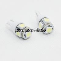 Super Quality 500pcs T10 5 SMD 5050 Wedge Signal 194 W5W 5 LED Car Light Bulb Lamp