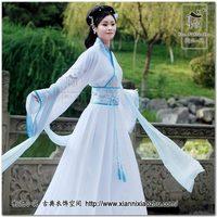 Blue lingbo Hanfu women's clothing collar Ru skirt suit  General or high-grade fabrics
