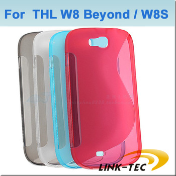 5Pcs Fashionable 4 Colors Silicon Soft cover case protector for THL W8 mobile phone LT11