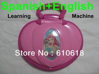 Spanish + English Language Educational Study Learning Machine Computer Laptop Toys For Children Kids Boys Girls Free Shipping