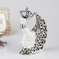 Modern home ceramic fashion decoration fashion cutout crafts peacock vase gift