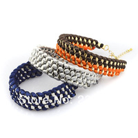 New arrival 2013 fashion knitted handmade bracelet
