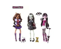 Best sale 2013 genuine monster high 3pc/lot BBC40  highly hot seller, Fairy dolls girls plastic toys  free shipping