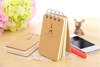 Free shipping,Creative The Eiffel Tower design loose-leaf notebooks,2pcs/lot