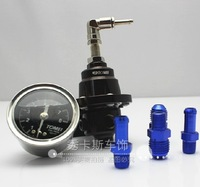Free shipping adjustable fuel pressure regulator / fuel booster / with pressure gauge (Universal)