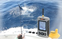 Free shipping Wireless Sonar Fish Finder Fishfinder Sea Contour C F Thermometer 70m 230ft