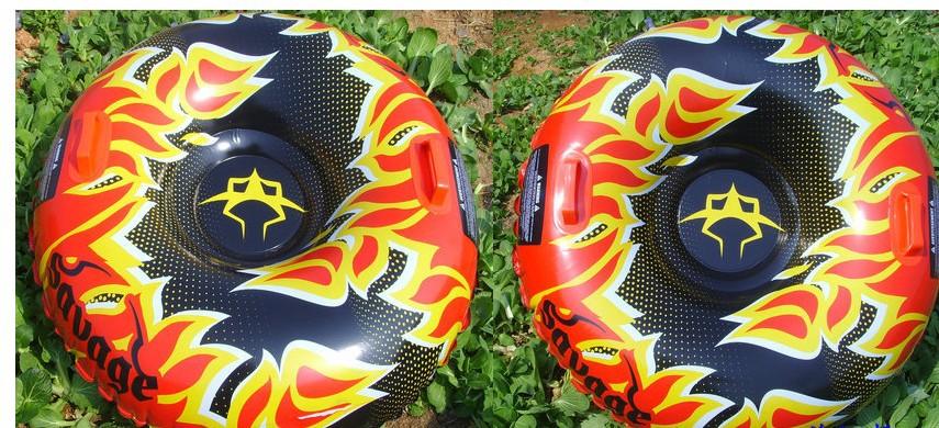 Free shipping Inflatable 1 person Flame Snow Tube / Ski Tube / Sled / Sledge(China (Mainland))