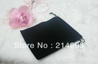 Custom small velvet jewelry drawstring pouches gift bags with printing your company logo free shipping