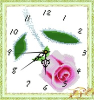 Tianen print cross stitch hd cloth clock rose