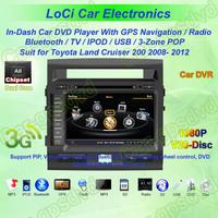 Free Shipping! Toyota Land Cruiser 200 LC200 08- 12 GPS Navigation DVD Player, Multimedia Video Player+Free GPS map+Free camera