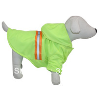 Hot Selling Light Green Fashion Pet Dog Cat Coat With Reflective Stripes Pet Dog Clothes Mix Sizes S/M/L