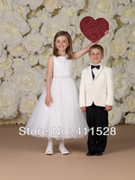 Lovely sequin scoop kids girl formal flower dress