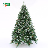 150cm quality white pinecone mixed christmas tree