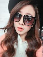 Free Shipping K10 2013 fashion sunglasses women's vintage big black square sunglasses gradient leopard print glasses