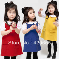 2013 spring and autumn Children's dress princess dress girls fashion cotton candy color tank dress Free shipping