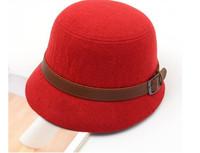 Fashion Vintage Autumn Winter Adult Women Fedora Hat Dome Hat England Vintage Bowler Caps Multicolor Ladies Headwear Bucket Hat