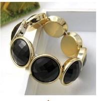 SX010 Hot!! New Temperament Phnom Penh Wild Black Inlaid Bracelet Jewelry Wholesales! Free shipping!
