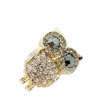 W7Tn New Hot Retro Owl Cute Rhinestone Stud Earrings