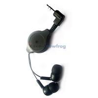 Retractable InEar Earbud Earphone Headphone for mp3 Schwarz V3NF