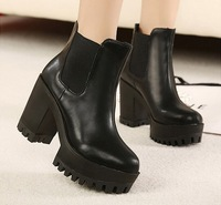 fashion martin boots for women chunky high heels platform shoes woman 2013 pumps punk ankle booties party girls SXX35837