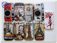 Bulk Price Vintage Design Cover for Samsung Galaxy S III i9300 S3 Case Retro Tower Marilyn Monroe Flower Girl Mobile Phone Shell
