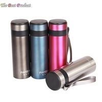 Fashion Keep-warm Glass 400ML Stainless steel Genuine Vacuum Flasks Ladies/Men insulation thermos cup holding water Thermoses281