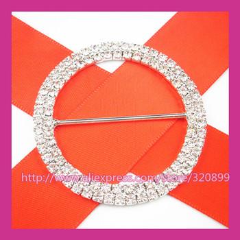 100pcs/lot 52mm Outer  Wedding Belt Buckles ,Gorgeous Rhinestone Chair Sash Buckle  for Wedding ,Big Rhinestone Buckle