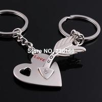 Free shipping (3 pairs/lot) cupido amor seta fine cupid keyring bijoux zinc alloy fashion cupid's arrow key chain for lovers
