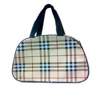 High quality check oval shape with net bag wash bag 8 041
