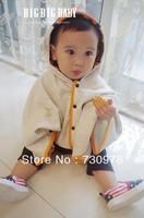 Bape baby cloak child cloak outerwear autumn and winter small cloak cape waistcoat 100% autumn cotton trench