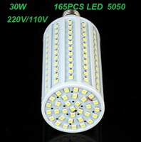 Wholesale E27 30W 165 LED SMD5050 360 degree Spot light LED Corn Bulb Light Lamp  Free Shipping