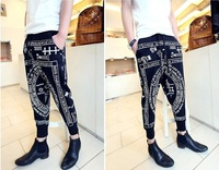 Free Shipping Autumn -Summer Hot 2013 Man`S Casual KTZ Pants Hip-Hop Totem Letters Tenths Pants LLY9-13