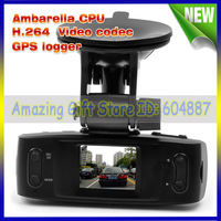 100% original GS1000 Car DVR Recorder with GPS logger Ambarella CPU G-sensor H.264 4 IR light 1920*1080P 30FPS Free Shipping