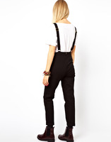 Free Shipping metal hasp shoulder strap adjustable one piece overalls brand pants cotton cloth trousers jumpsuit
