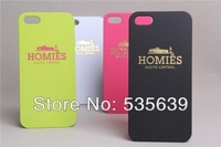 1pcs Fashion Tide brand homies south central lovers design Matte feel hard cover case for iphone 4 4S Wholesale Free Shipping