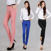 2013 fashion latest model pants  women's skinny pants casual rousers straight slim ol harem pants FREE SHIPPING