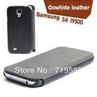 S4 I9500 leather, leather phone protective cover, mobile phone shell holster around the turn, can be wholesale