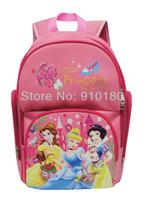 Free shipping Cartoon baby girl Snowhite zipper shoulder School bag kids backpacks children's bookbags student bag